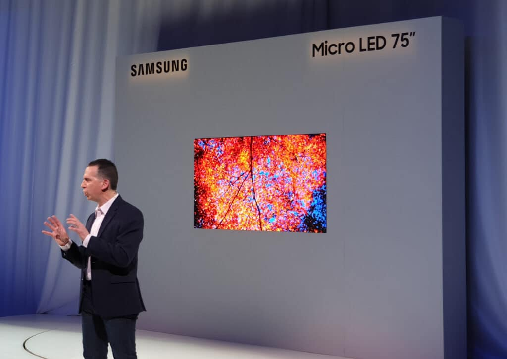 Micro-LED-TV 75 Zoll (Inch) Samsung CES 2019