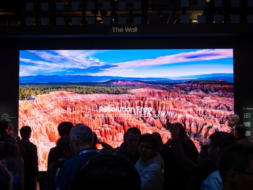 Samsung Micro LED TV 292 Zoll (Inch) CES 2020