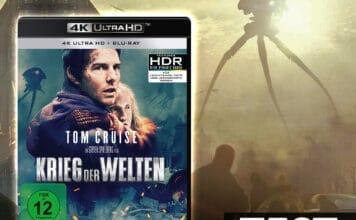 Tom Cruise mal ausnahmsweise nicht alleine auf einem Cover: Krieg der Welten 4K Blu-ray