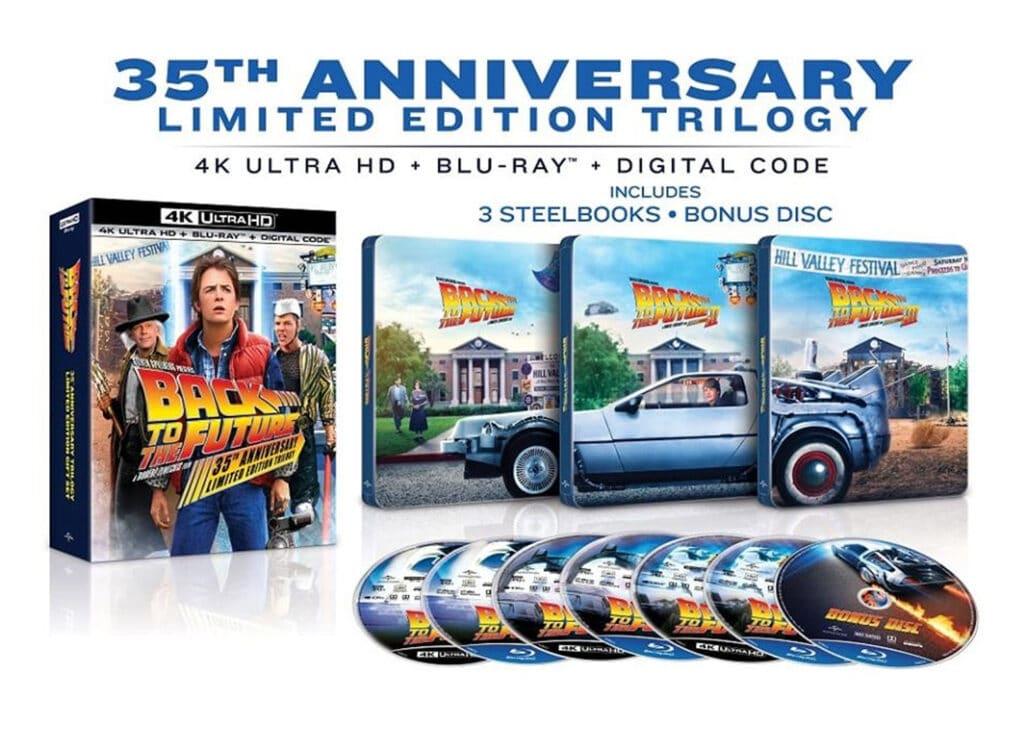"""Geilo. Die ikonische """"Zurück in die Zukunft"""" Trilogie erscheint als 4K Blu-ray Steelbook Collection"""
