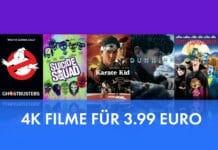 Günstiger kommt man nicht an 4K Filme: 3.99 Euro auf iTunes (Kauf)