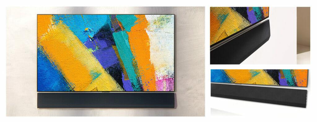LG GX Gallery Design TV mit GX Soundbar