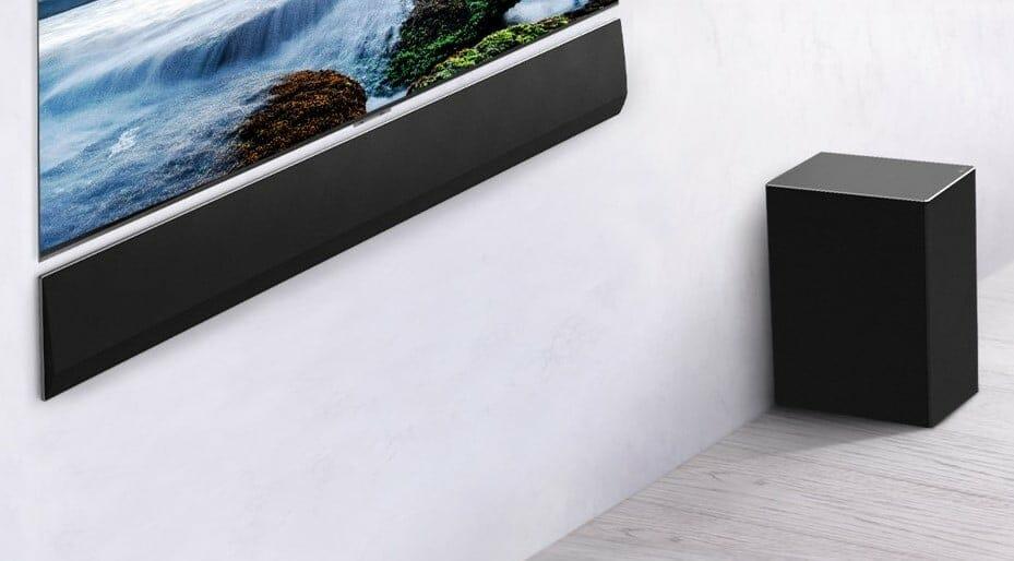 Optional erhältlich, die LG GX Soundbar mit drahtlosem Subwoofer