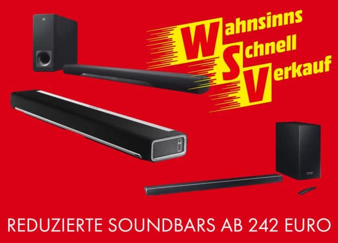 Reduzierte, günstige Soundbars für unter 250 Euro!