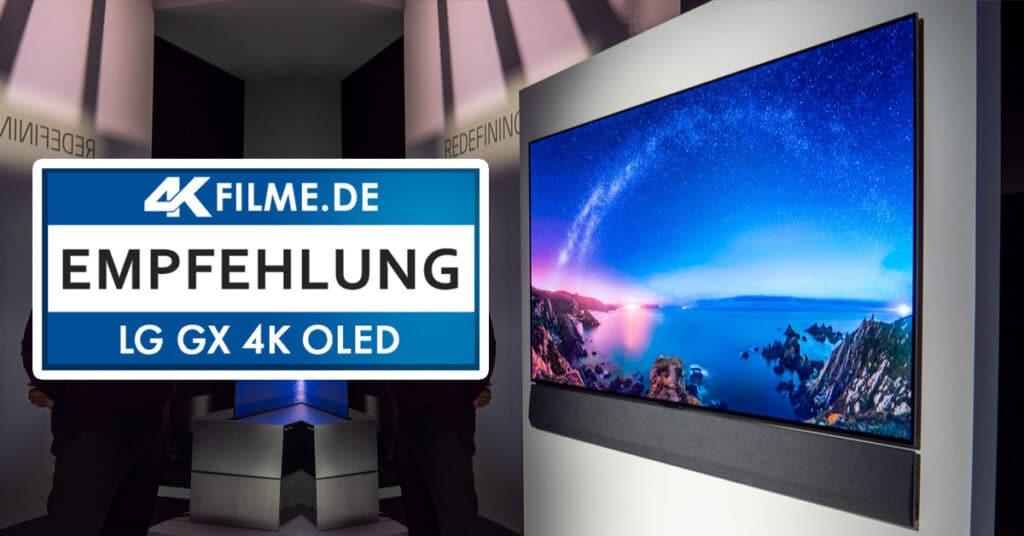 Unser Test des 4K OLED  GX Gallery aus 2020 brachte ähnliche Ergebnisse hervor