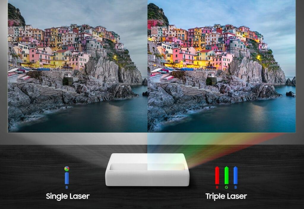 The Premiere LSP9T: Die Triple Laser Lichtquelle sorgt nicht nur für eine hohe Helligkeit, die Farbdarstellung profitiert ebenfalls
