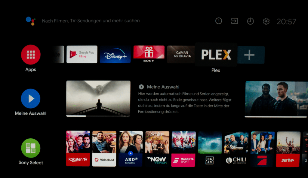 Android TV 9 XH90 Sony