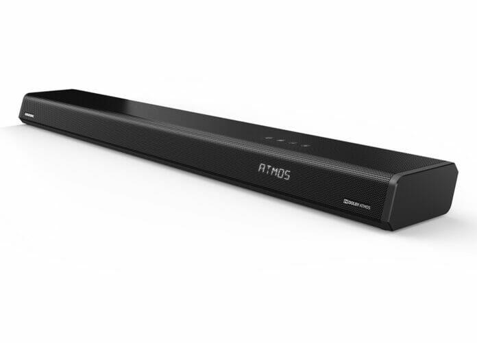 Die neue DSB 1000 Dolby Atmos Soundbar von Grundig mit integriertem Subwoofer