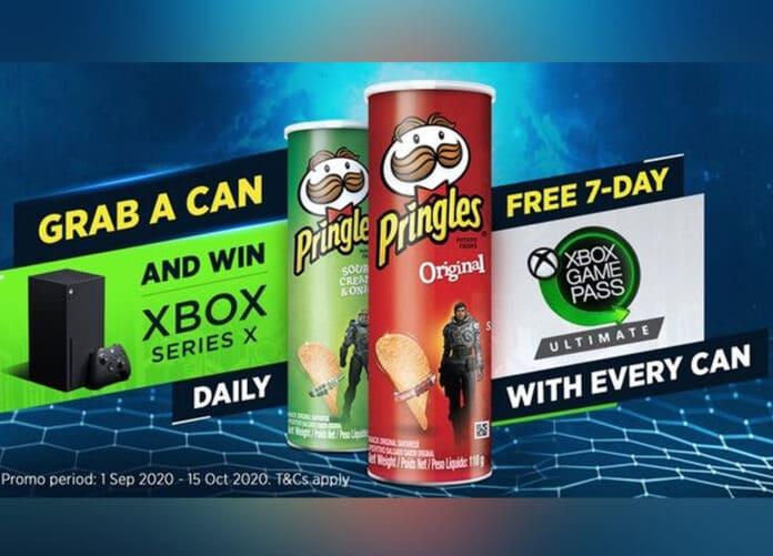 Pringles Gewinnspiel mit Xbox Series X Konsolen als Hauptpreis || Bild Kellog Company + Microsoft