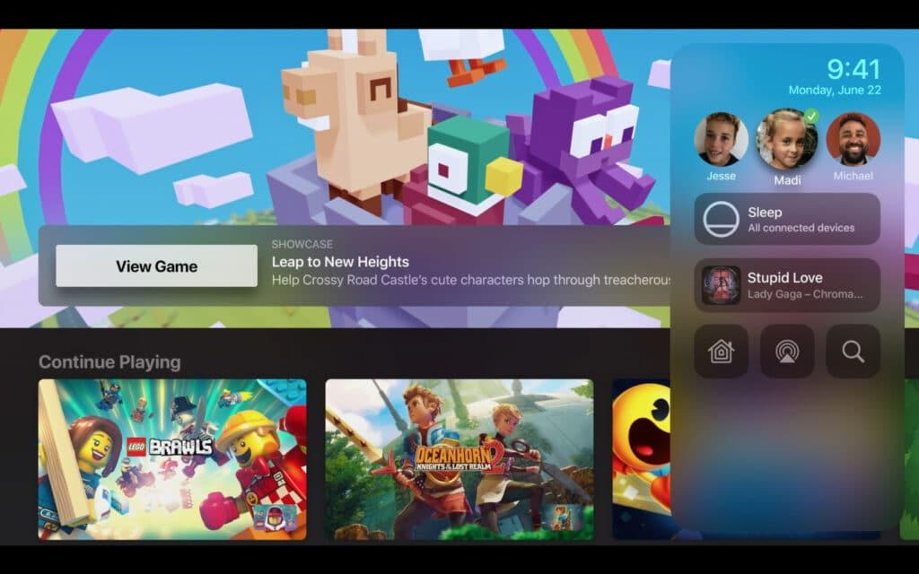 Apple Games mit verschiedenen Nutzerprofilen