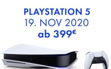 Die PlayStation 5 ist ab 399 Euro erhältlich und erscheint am 19. November 2020 in Deutschland