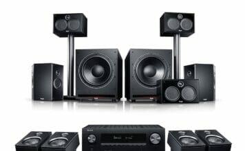 Teufel System 6 THX Dolby Atmos Set mit Denon AVC-X3700H Receiver mit HDMI 2.1
