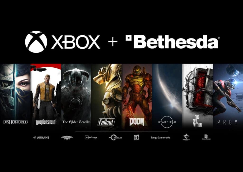 Beliebte Marken wie Doom, Fallout, The Elder Scrolls oder Dishonored gehören jetzt zu Team Xbox (Microsoft)