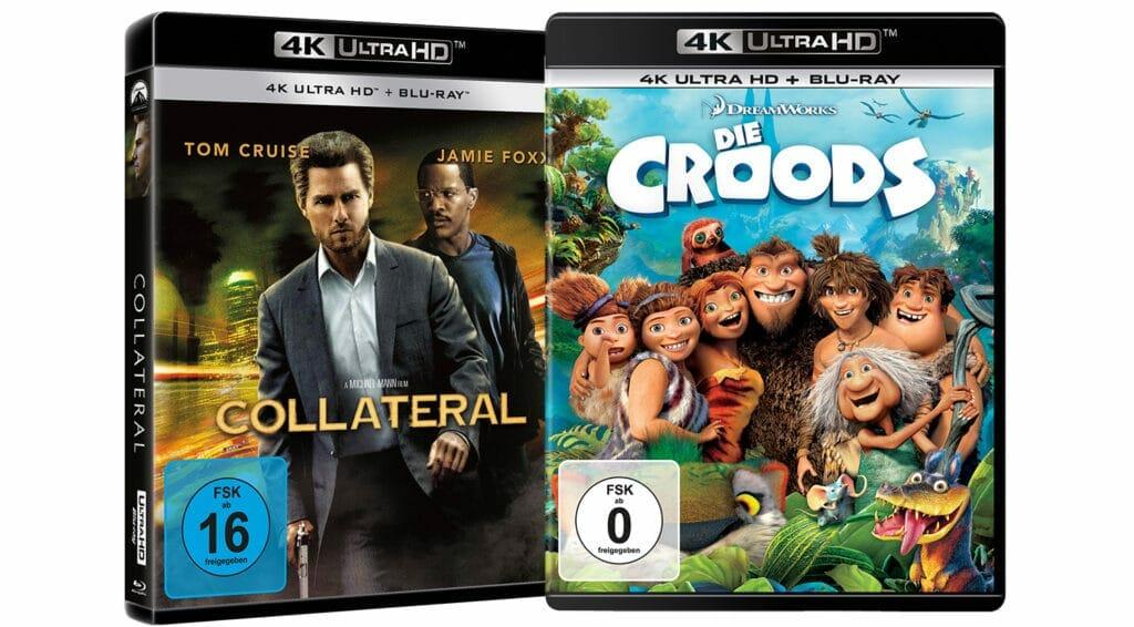 Collateral und Die Croods erscheinen als 4K Blu-ray Amaray
