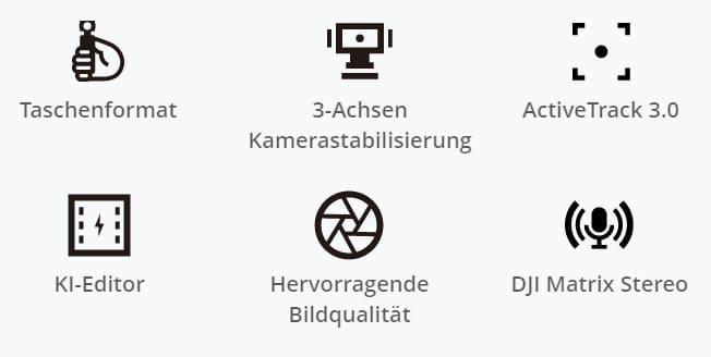 Die Haupt-Features der DJI Pocket 2
