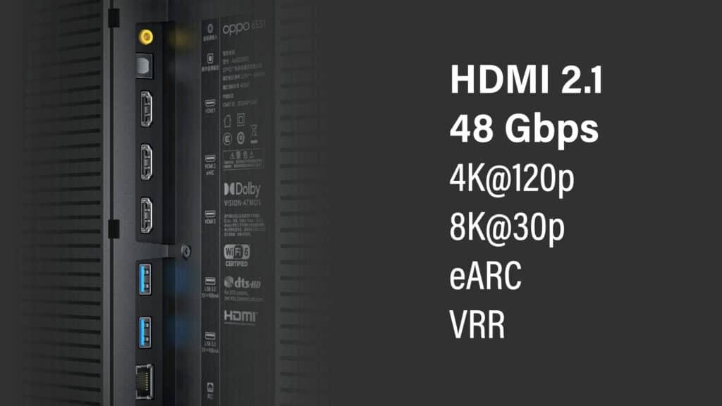 Voll ausgestattet mit HDMI 2.1, eARC, VRR und sogar 8K-Verarbeitung