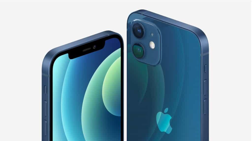 Das neue Apple iPhone 12 mit einem 6.1 Zoll OLED Display und zwei 12MP Wide/UltraWide Kameras auf der Rückseite