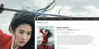 Mulan ist bereits in 4K mit Dolby Vision auf iTunes erhältlich - Titel von Disney, Star Wars und Marvel werden folgen