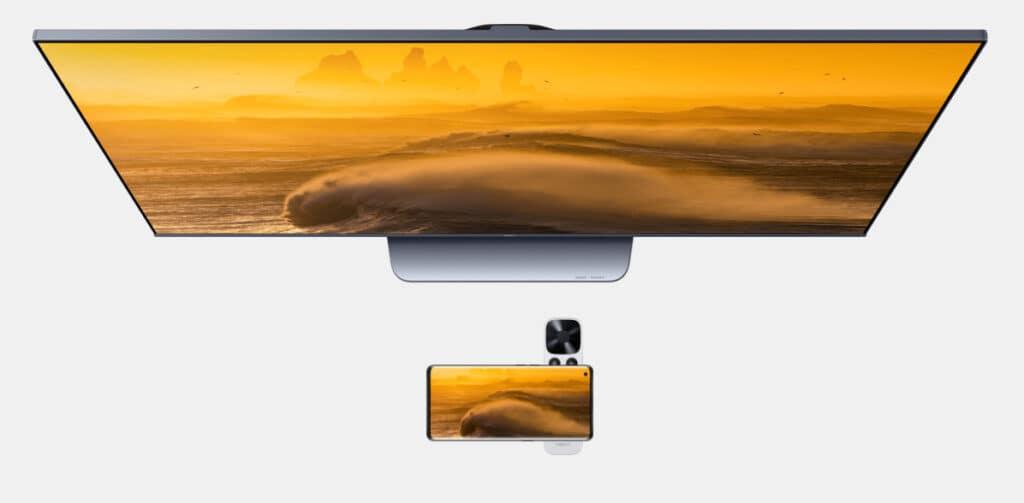 Komfort-Features wie das Spiegeln von mobilen Inhalten via NFC (integriert in der Fernbedienung) vervollständigen den Oppo S1 4K QLED TV