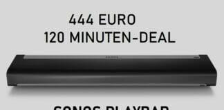 Sonos Playbar für nur 444 Euro! Nur 120 Minuten gültig!