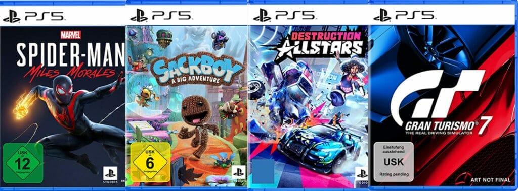 Einige First-Party-Titel für die PlayStation 5 von Sony