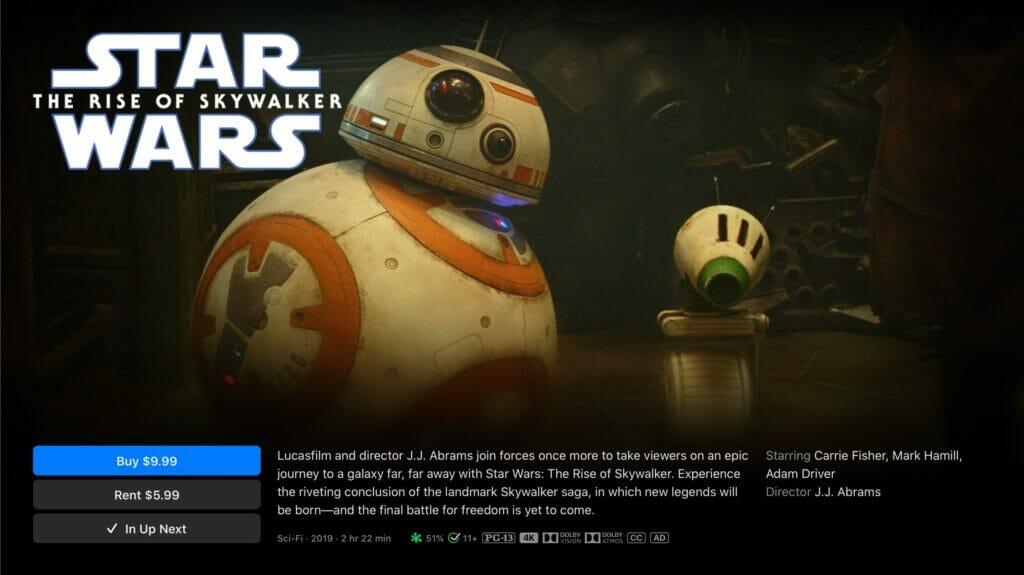 Auch das Star Wars Universum ist jetzt auf iTunes in 4K vertreten