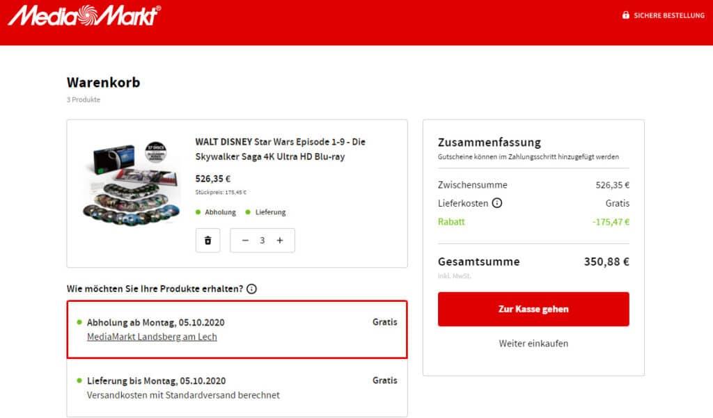 Wer sich mit Freunden 3x die Skywalker Saga 4K Komplettbox (Episode 1-9) kauft, zahlt pro Box nur nur 117 Euro!