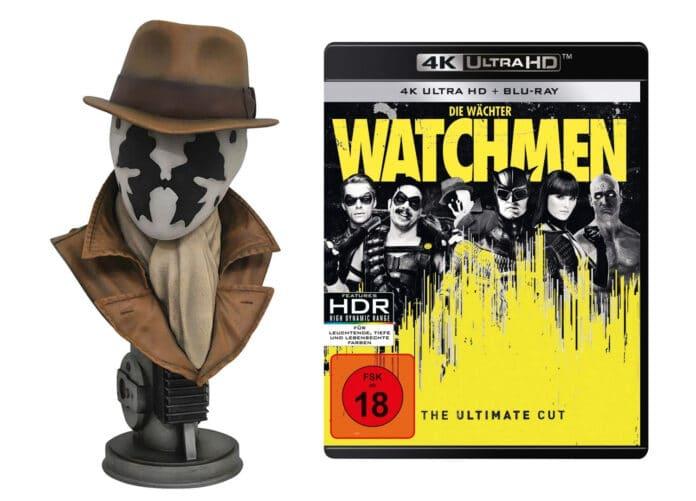 Die Watchmen 4K Blu-ray im Ultimate Cut soll mit dieser Büste für über 200 Euro in den Handel gelangen