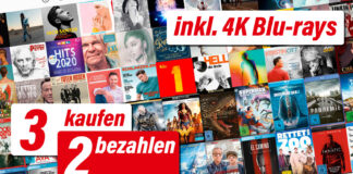 Mega-Aktion! 3 kaufen nur 2 bezahlen auf das gesamte Film- & Musik-Sortiment von mediamarkt.de