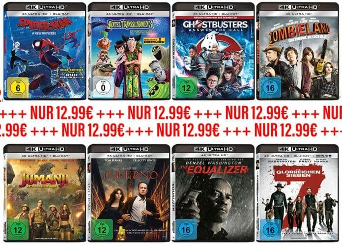 Sehenswerte 4K Blu-rays für 12.99 Euro? Ein Schnäppchen! Aber es geht noch günstiger!