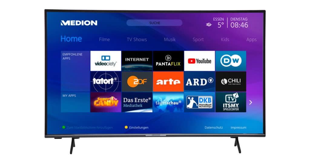 Der Medion X15575 beherrscht neben HDR10 auch Dolby Vision.