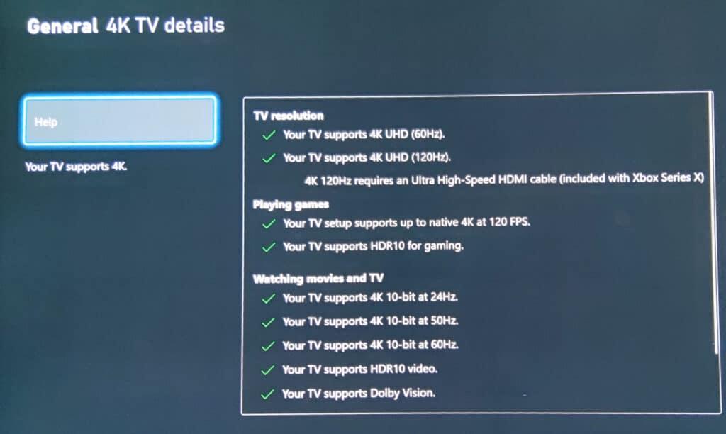 Die Xbox Series X erkennt die Features des LG E9.