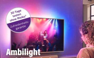 Ohne Verpflichtungen oder Rikiso aktuelle Ambilight Fernseher 30 Tage testen!