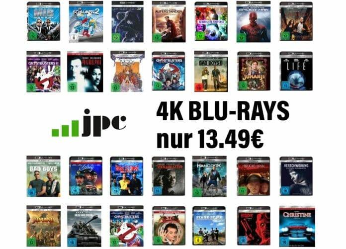 Die 4K Blu-rays von Sony gibt es bei JPC.de mal so richtig günstig!