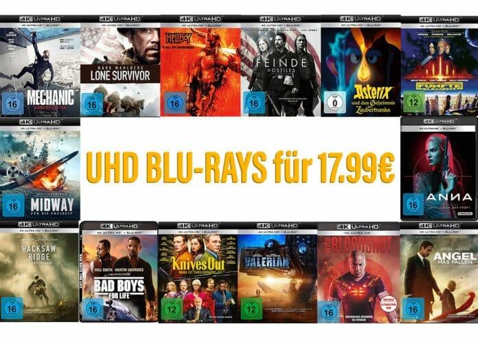 Amazon reduziert ausgewählte UHD Blu-rays auf 17.99 Euro