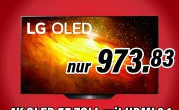 Der LG BX 55 Zoll 4K OLED ist für unter 1.000 Euro zu haben!