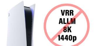 PS5 ohne VRR, ALLM, 8K und 1440p-Support