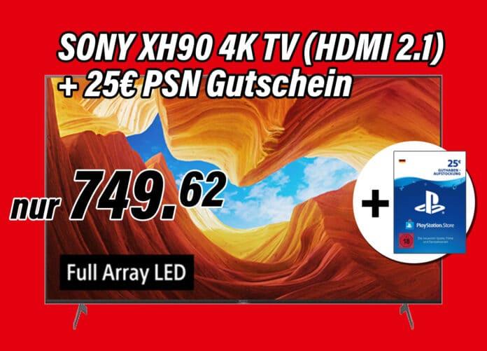 Das Top-Angebot auf MediaMarkt.de: Sony XH90 4K TV mit HDMI 2.1 (55 Zoll) für nur 750 Euro!