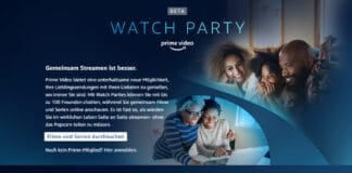 Watch Party auf Amazon Prime Video mit bis zu 100 Leuten