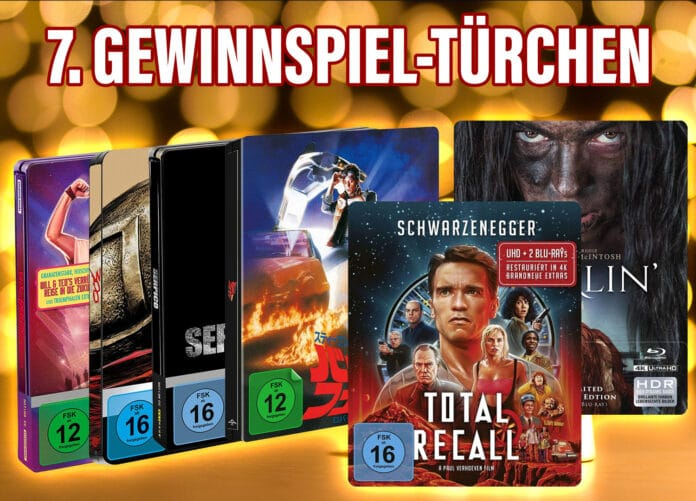 Gewinnspiel 4K Blu-ray Steelbook Paket