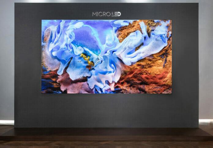 Samsung hat einen neuen Micro-LED-TV mit 110 zoll vorgestellt