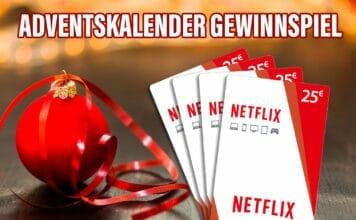 Im ersten Gewinnspiel-Türchen erwartet euch eine 25€ Netflix Gutscheinkarte