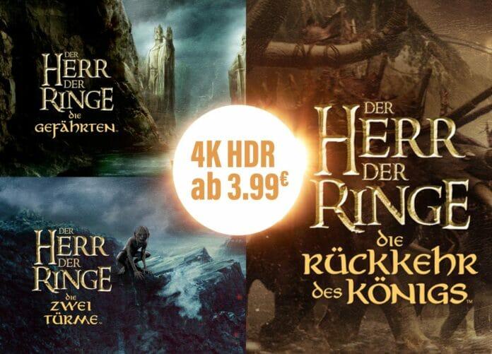 Die Herr der Ringe Filme ab 3.99 Euro in 4K Auflösung mit Dolby Vision HDR!