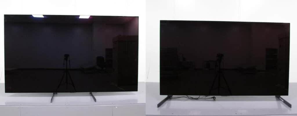 LG G1 4K OLED mit unterschiedlichen Standfuß-Positionen