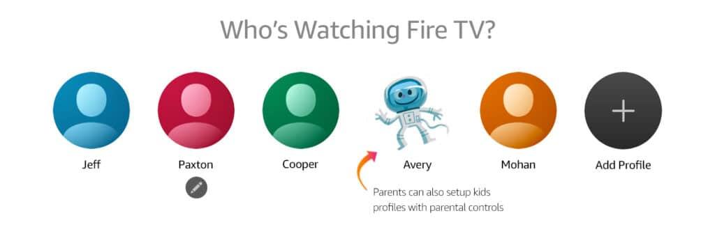 Bis zu sechs Nutzerprofile können je Prime-Abo/Fire TV angelegt werden