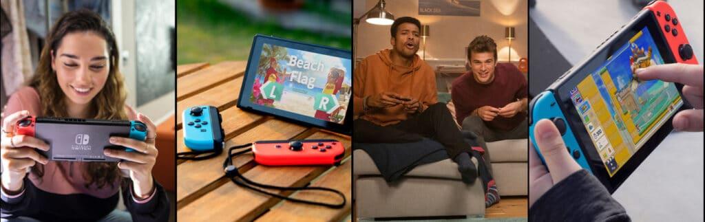 Allein, mit Freunden, Unterwegs, Zuhause egal wie und wo - Mit der Nintendo Switch ist Spaß garantiert!