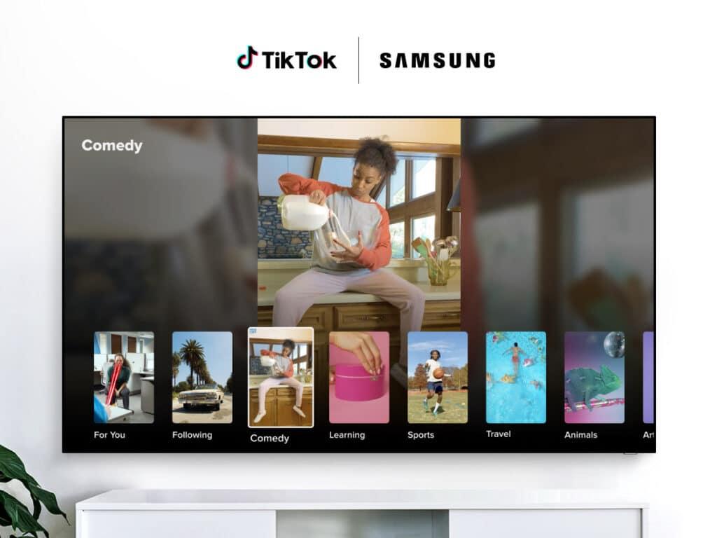 TikTok erreicht Smart-TVs von Samsung