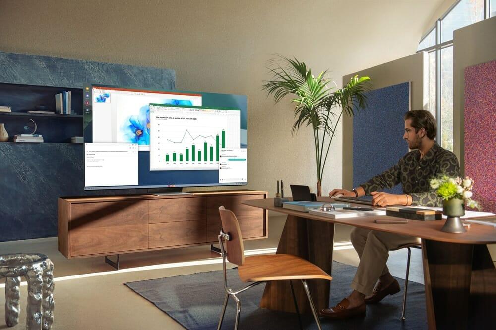 Mit PC to TV soll sich der 8K Neo QLED TV QN800A auch als Monitor nutzen lassen