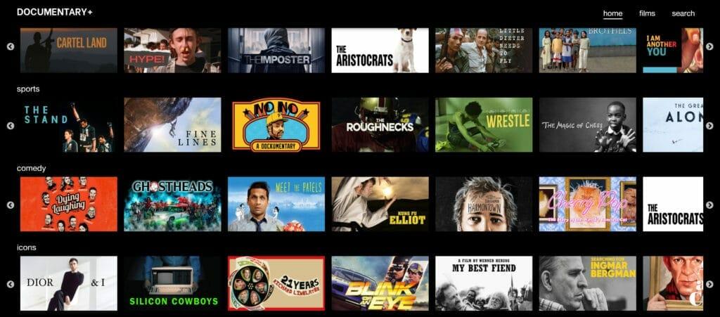 Documentary+ bietet kurze und lange Dokumentationen.