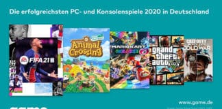 game gibt bekannt, welche Spiele in Deutschland 2020 besonders erfolgreich gewesen sind.